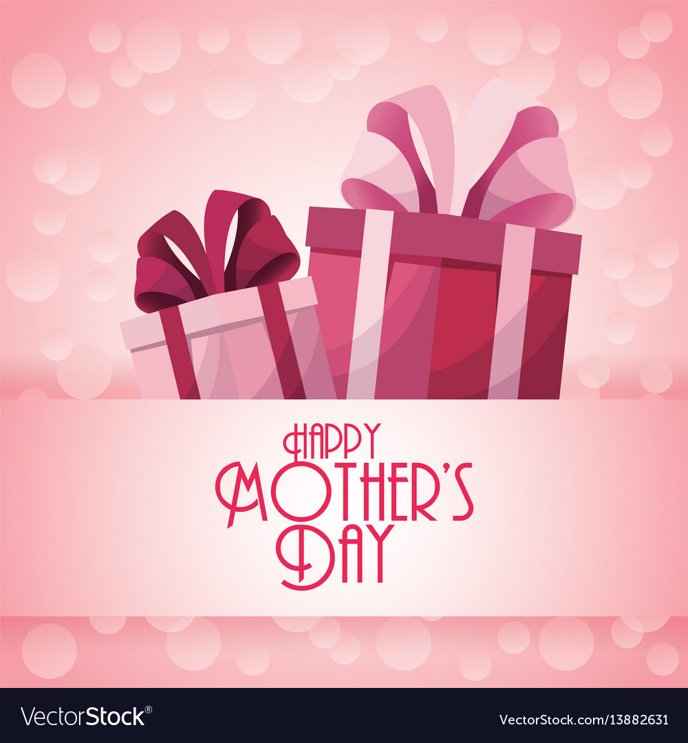 Happy Mothers Day Gift Boxes Presents Decoration