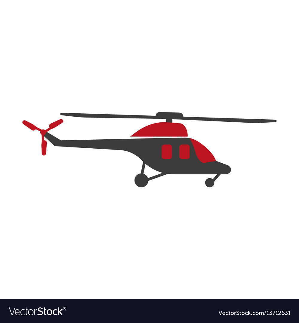 Helicopter logo silhouette isolated in black and