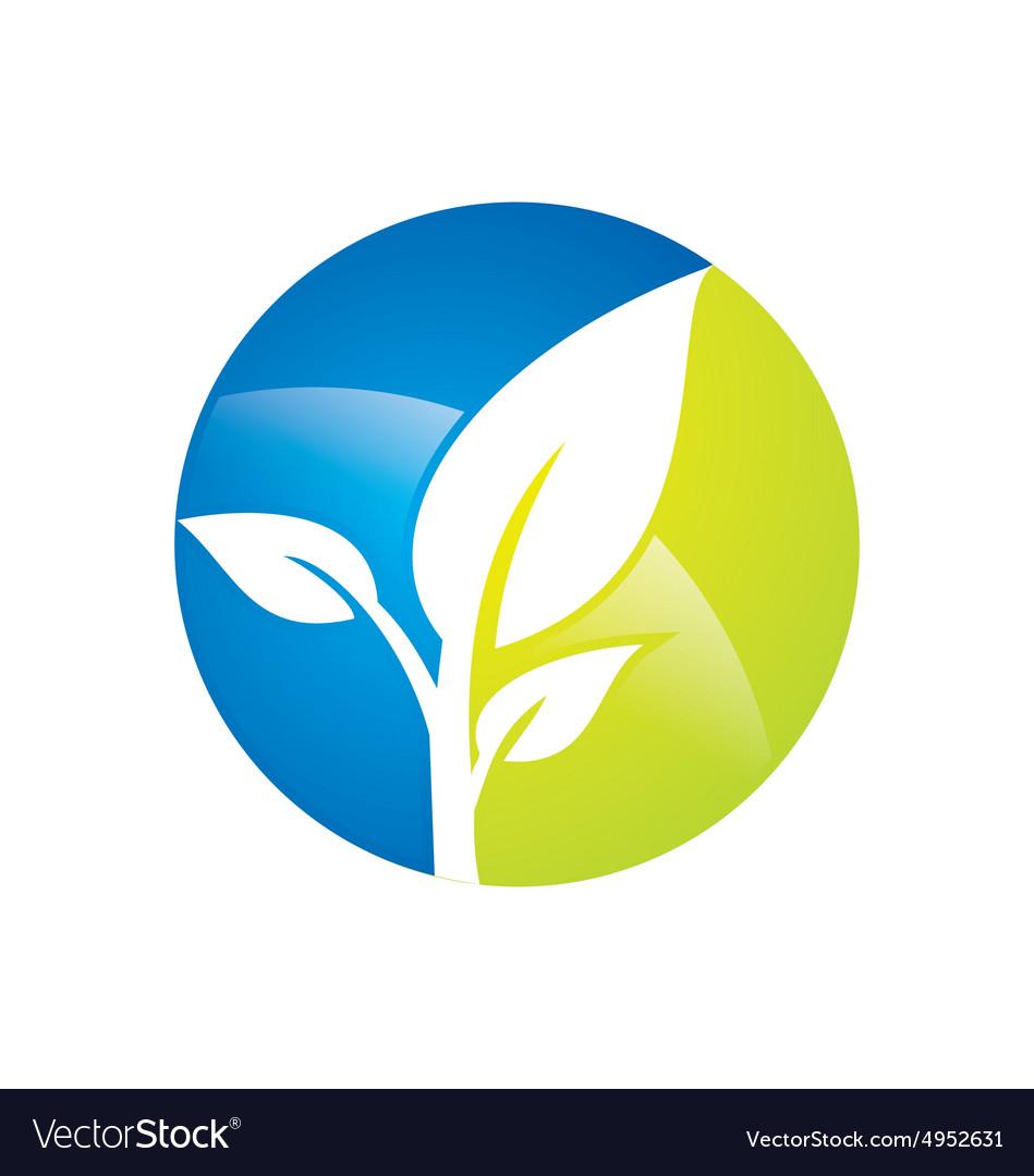 Plant leaf botany environment logo