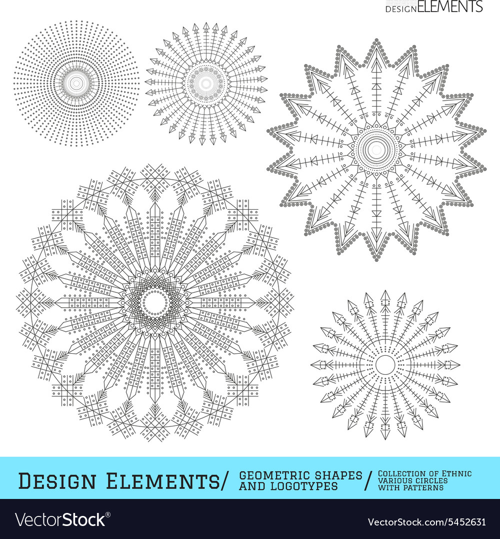 Set of geometric hipster shapes and logotypes64954 vector image