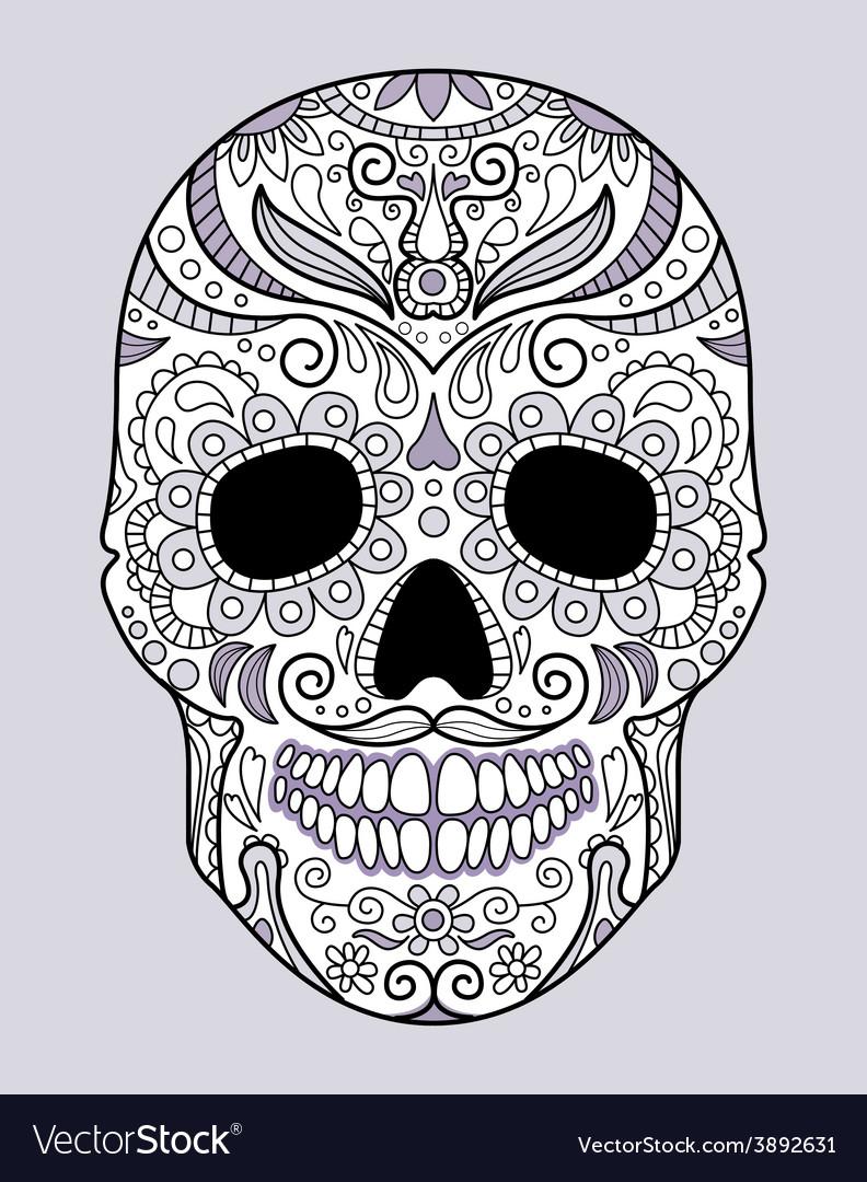 Skull in different monograms original design