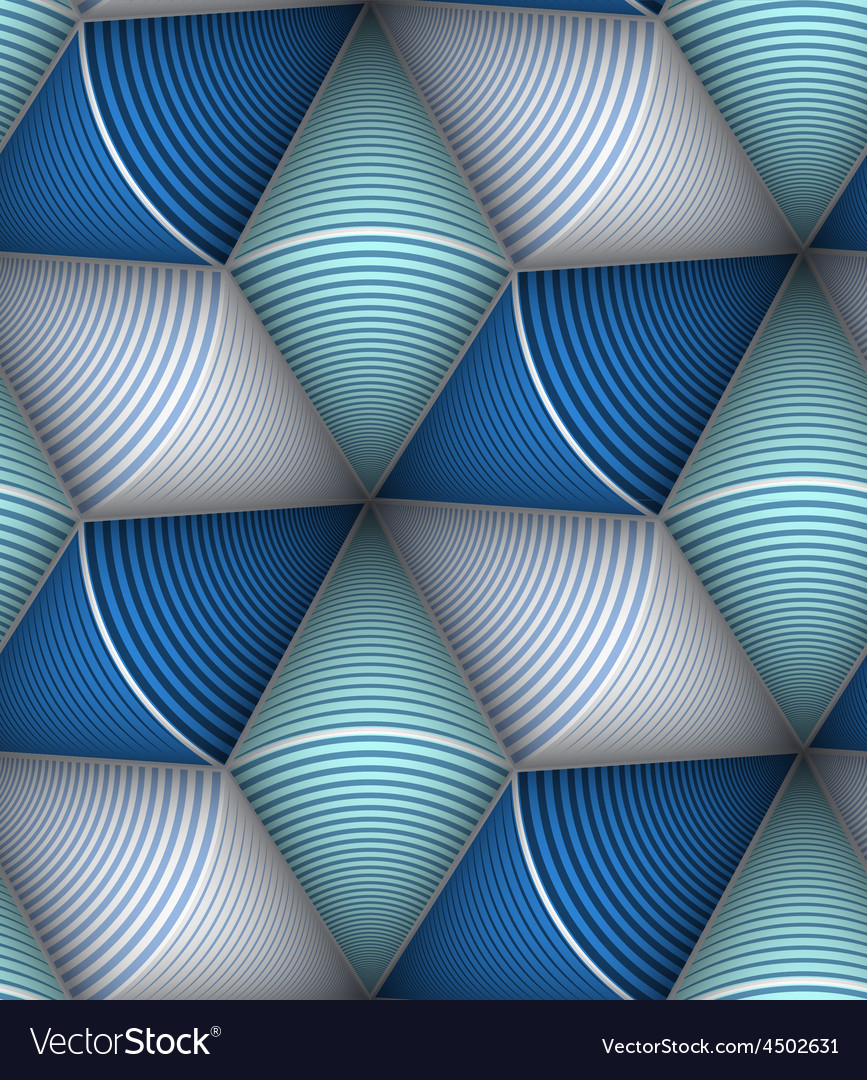 Striped Circle Cone 3d Seamless Seamless Pattern