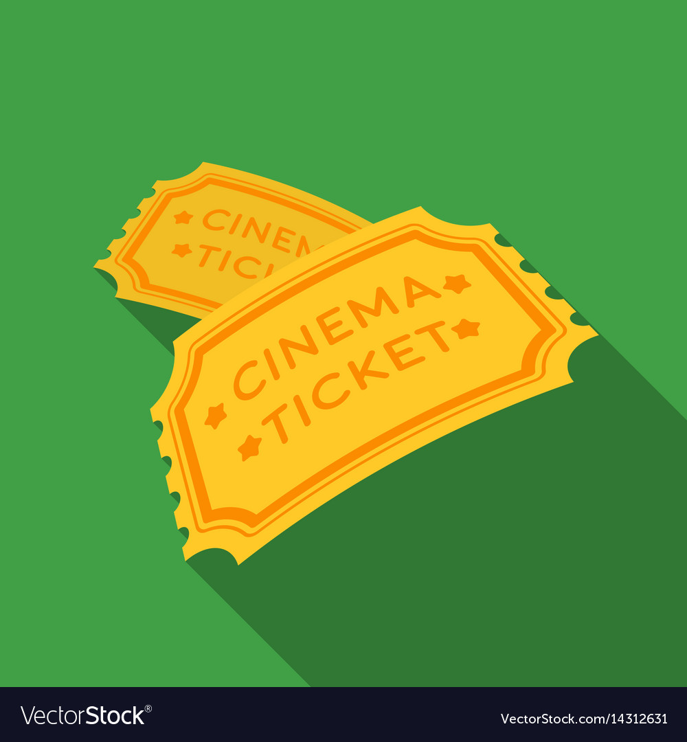 Ticket icon in flat style isolated on white