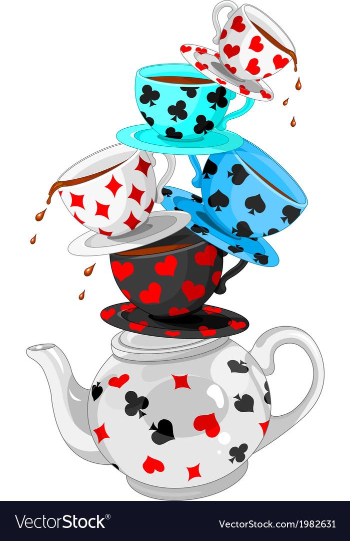 Wonder Tea Party pyramid vector image