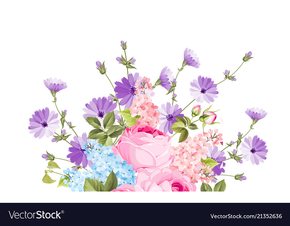 Chicory garland elegant card