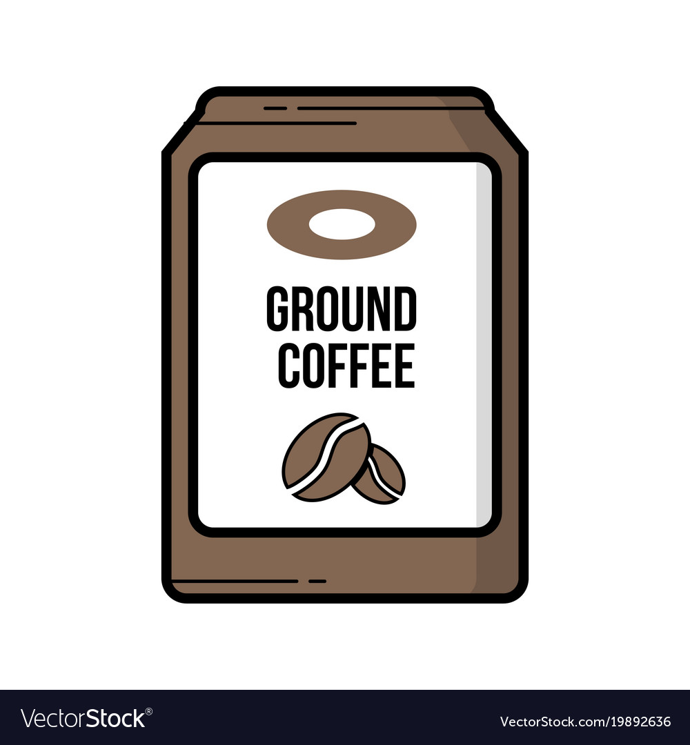 Ground Coffee Bag Vintage Icon Vector Image