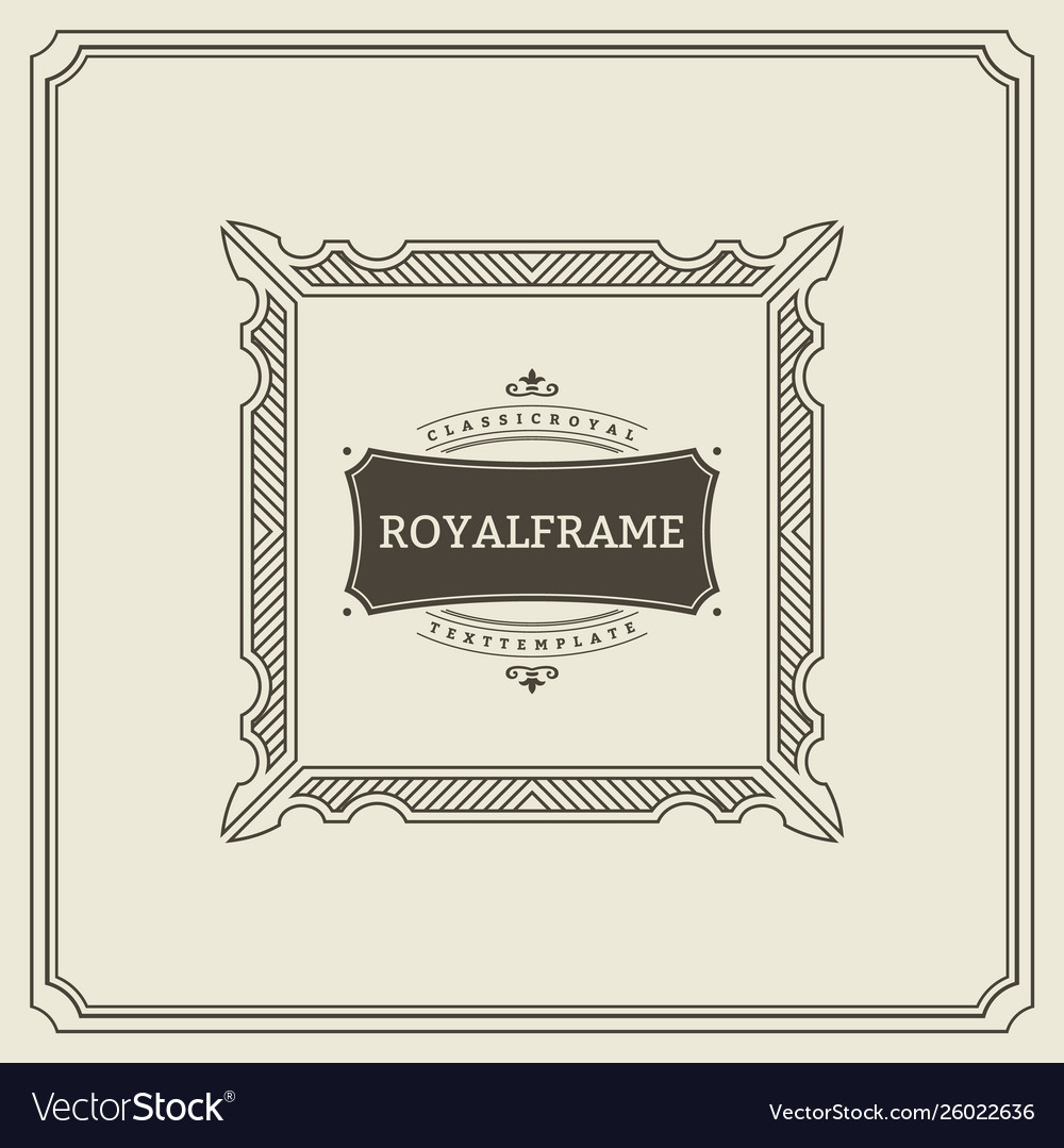 Invitation frame vintage ornament greeting card