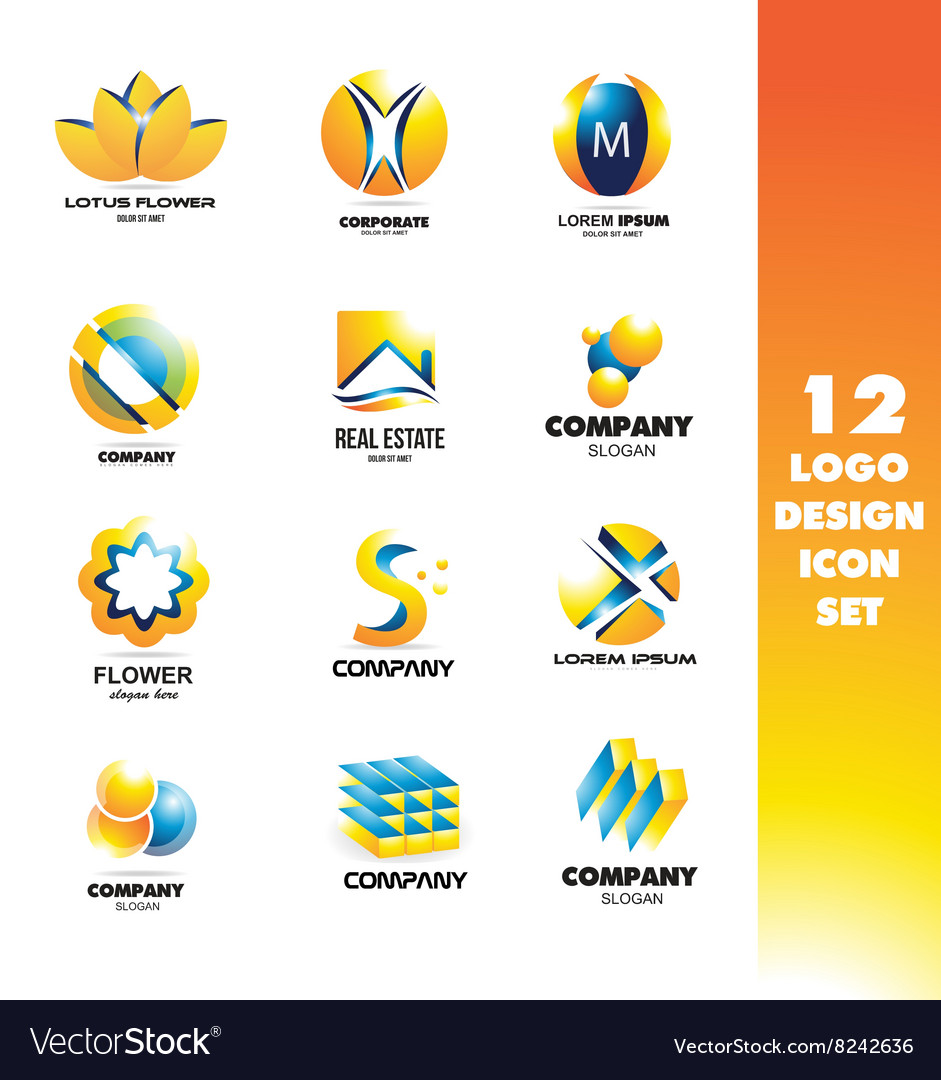 Logo icon design elements set