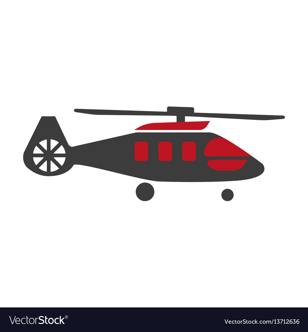 Military rescue helicopter icon image