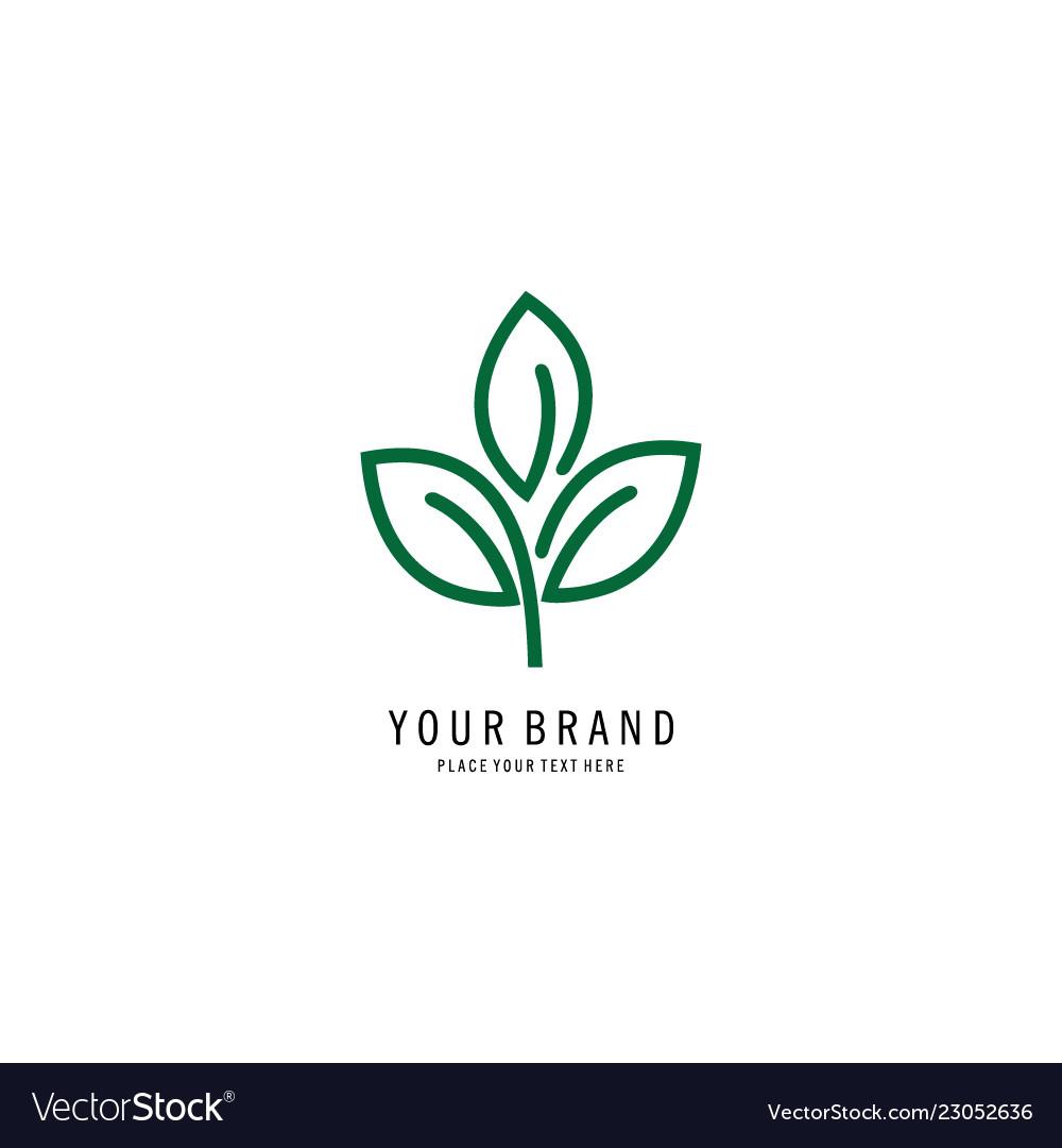 Outline flower logo