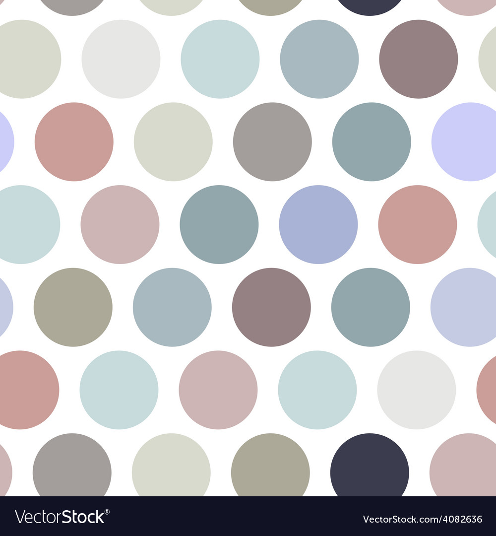 Polka dot background seamless pattern Pastel color vector image