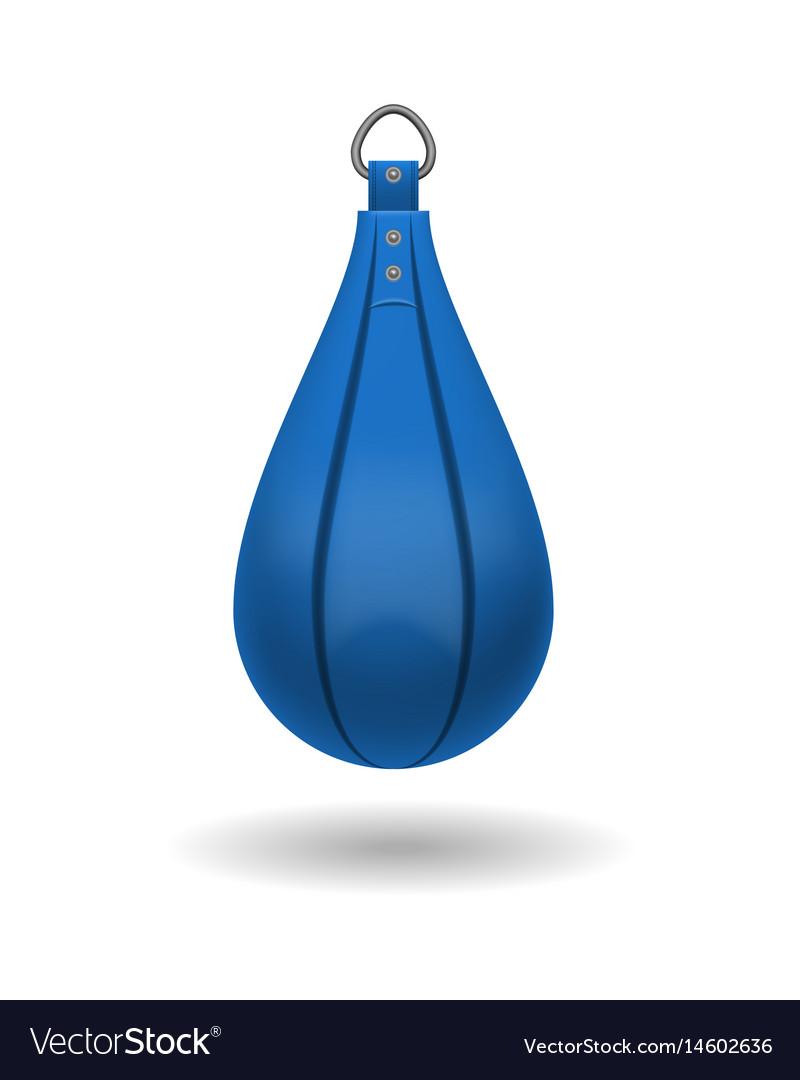 Punching bag for training impact velocity vector image