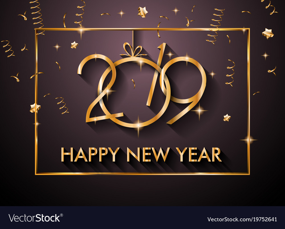 Best Of New Year 2019 Wallpapers Hd For: 2019 Happy New Year Backgrounds For Your Seasonal Vector Image