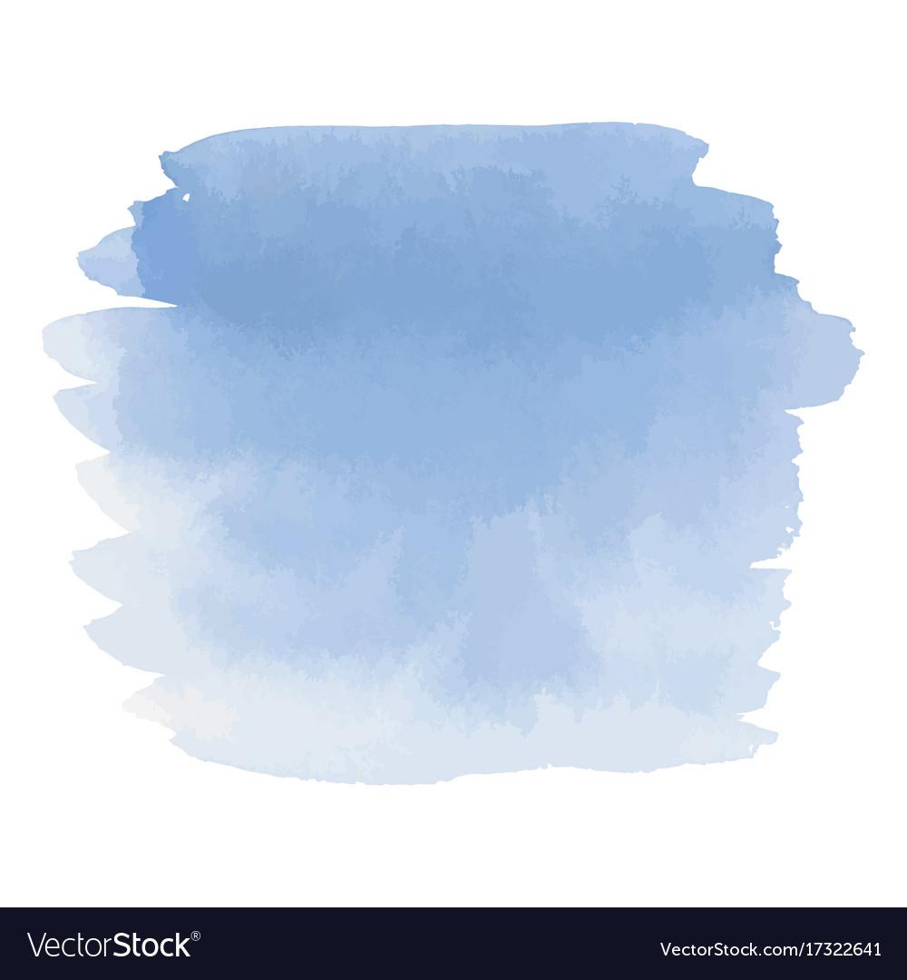 Blue color watercolor hand drawn gradient banner