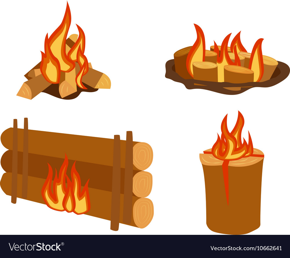 Bonfires isolated