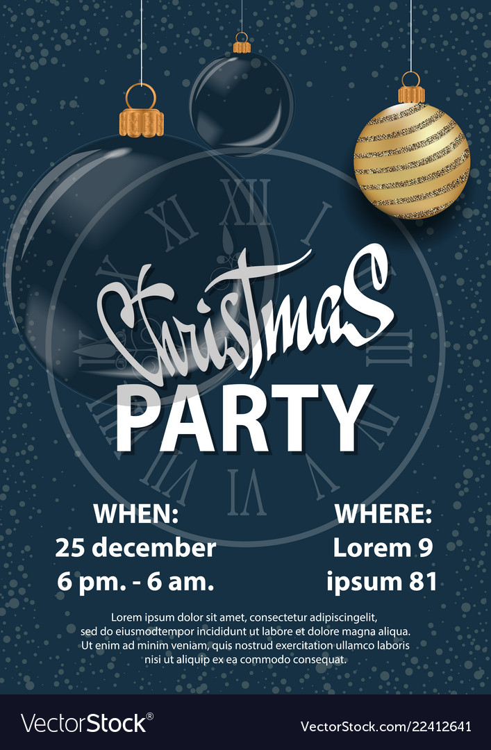 Christmas 2018 Party Invitation Card For Your