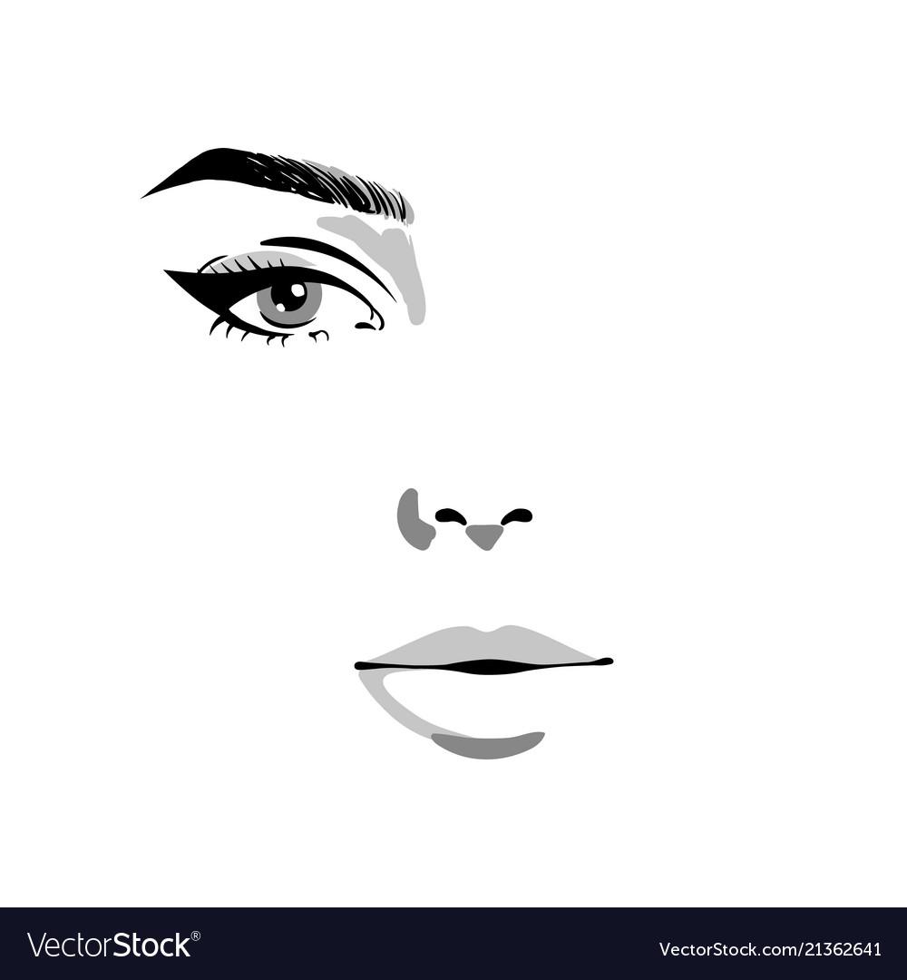 Glamour fashion beauty woman face