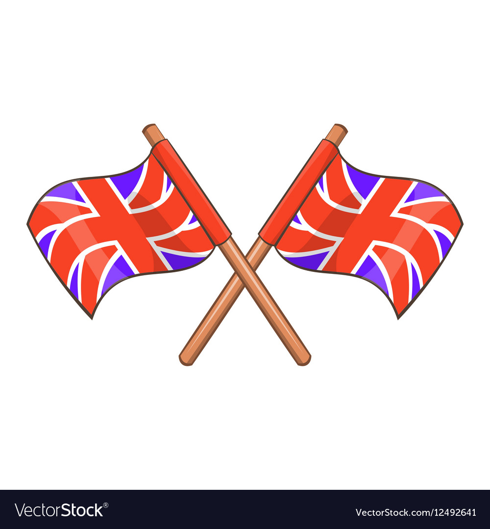 Great Britain flag icon cartoon style vector image