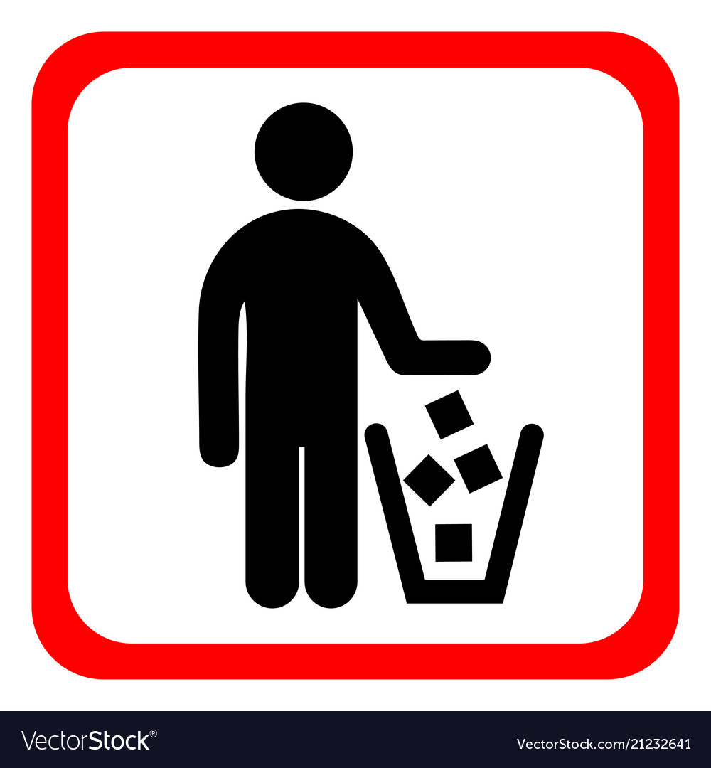 No Littering Sign In Royalty Free Vector Image