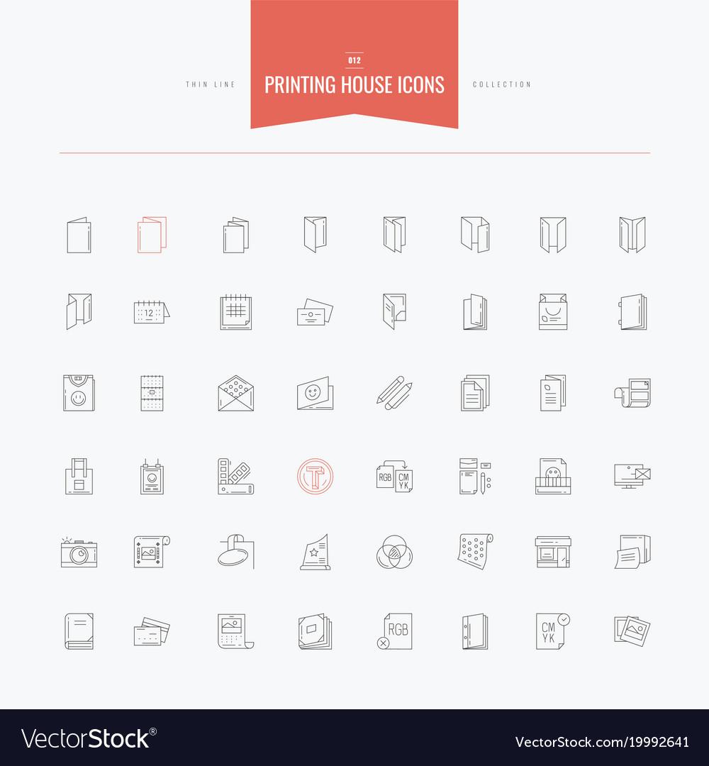 Printing house print technology folded catalog
