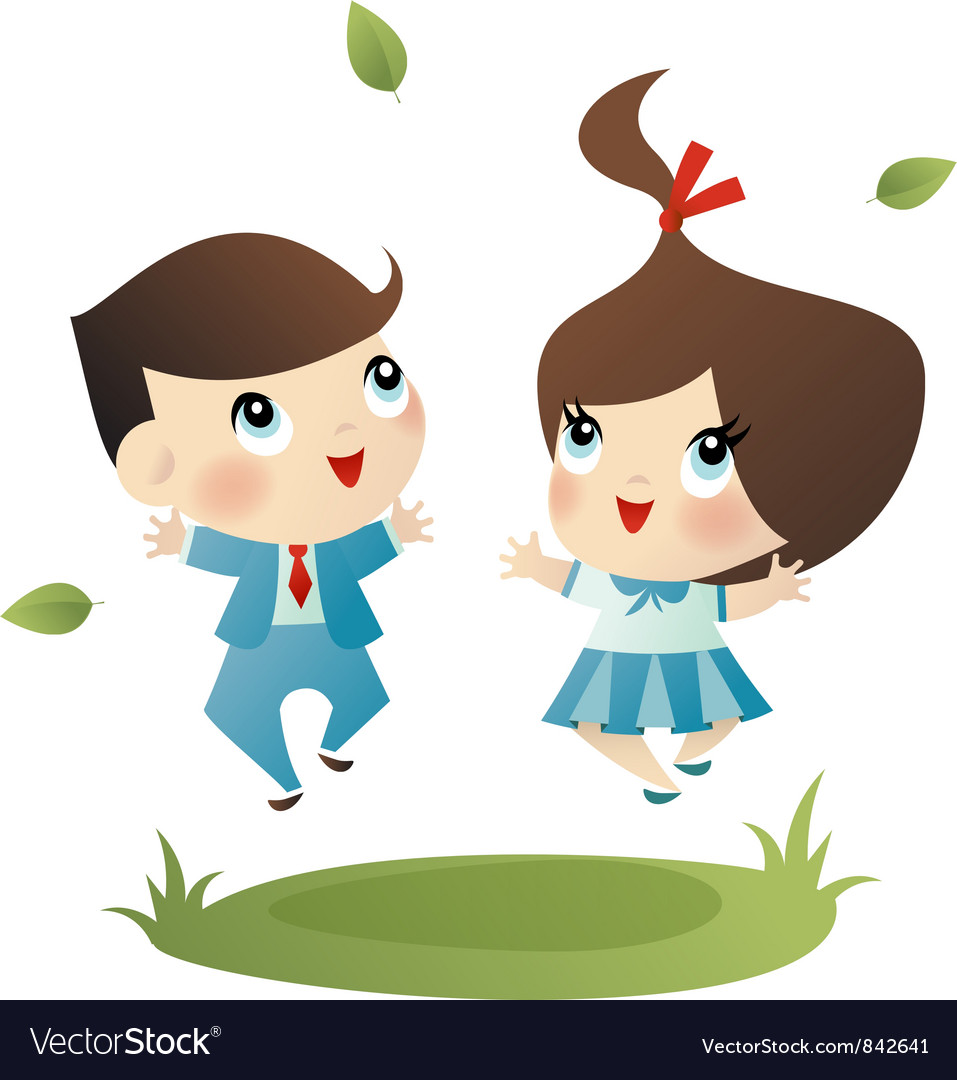 School boy and girl