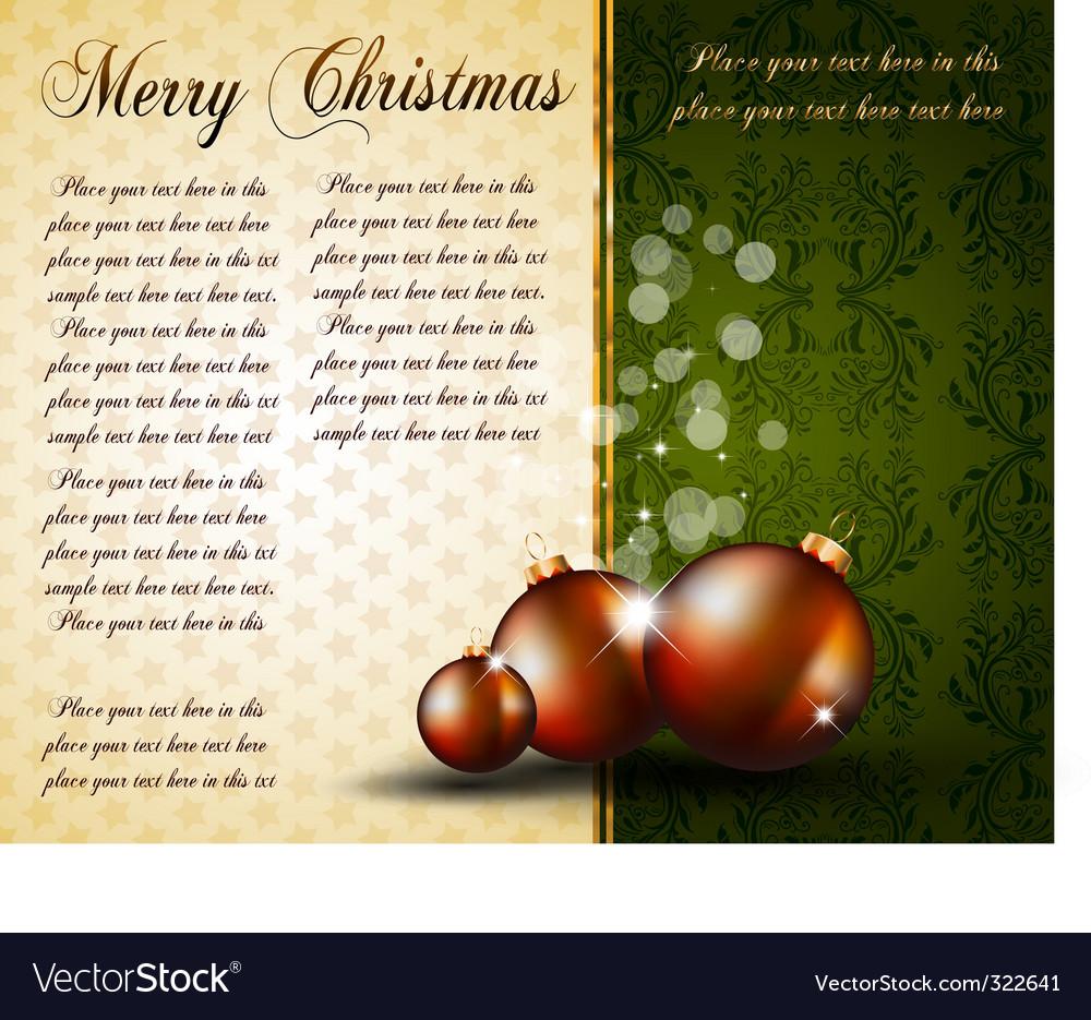 Vintage Christmas baubles background