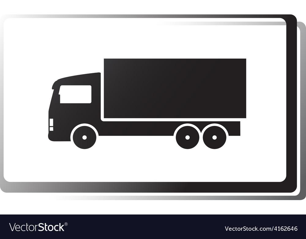 Black truck in frame vector image