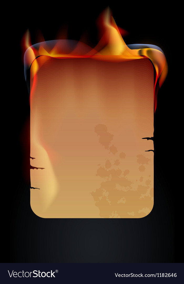 Burning paper vector image