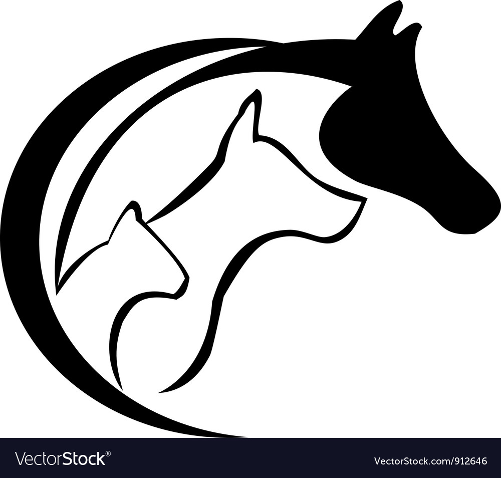 Cat Horse And Dog Royalty Free Vector Image Vectorstock