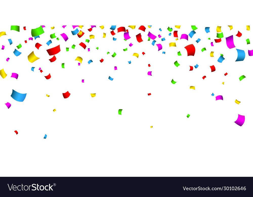 Colorful confetti celebration carnival falling
