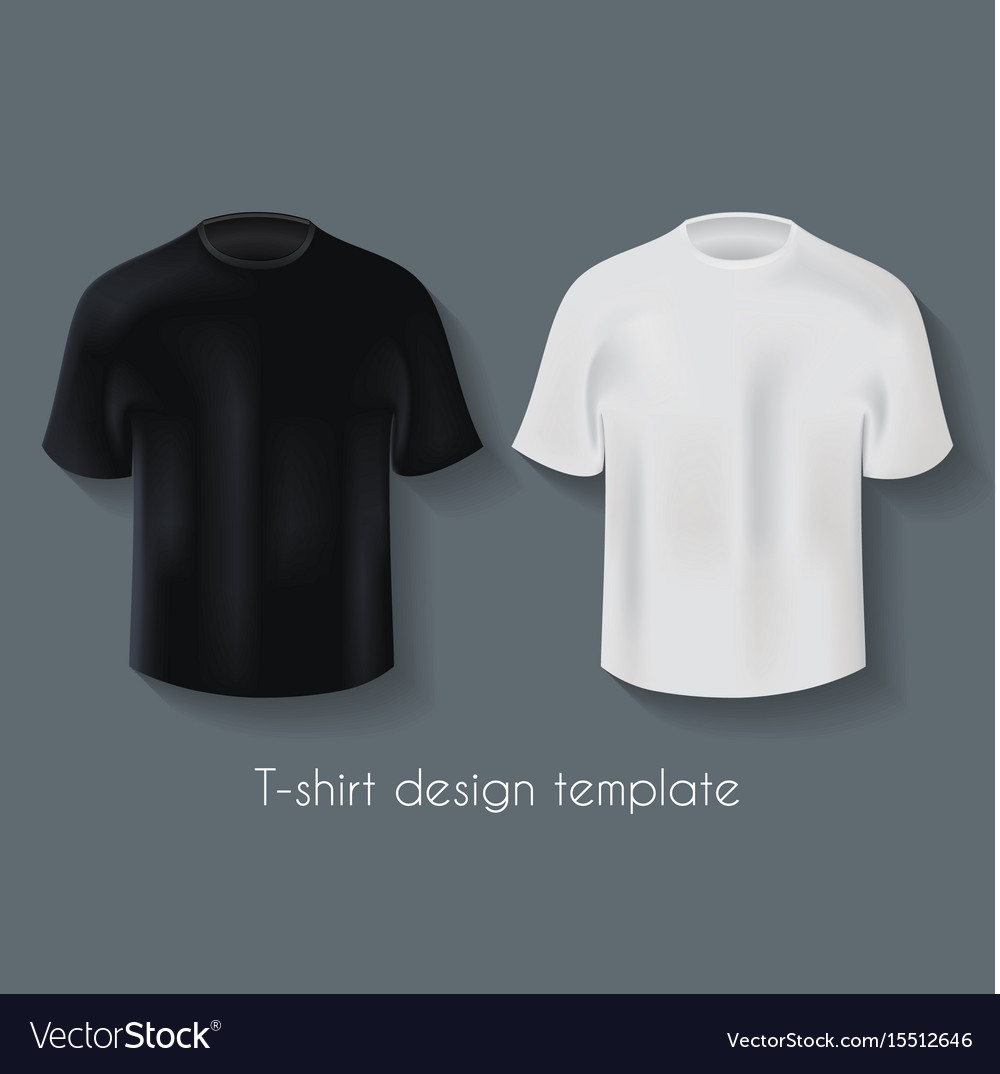 752acfc8 Male t-shirts design template set Royalty Free Vector Image