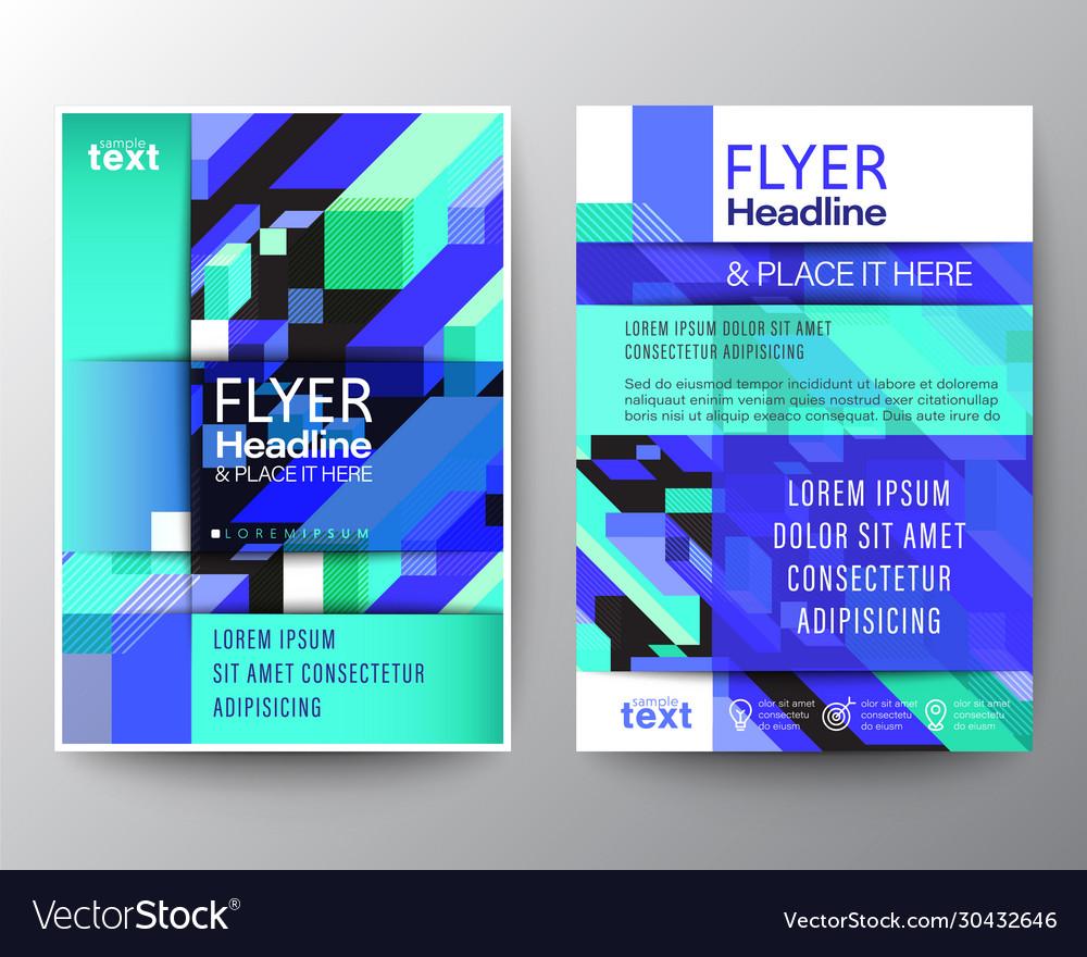 Modern brochure cover flyer poster design layout