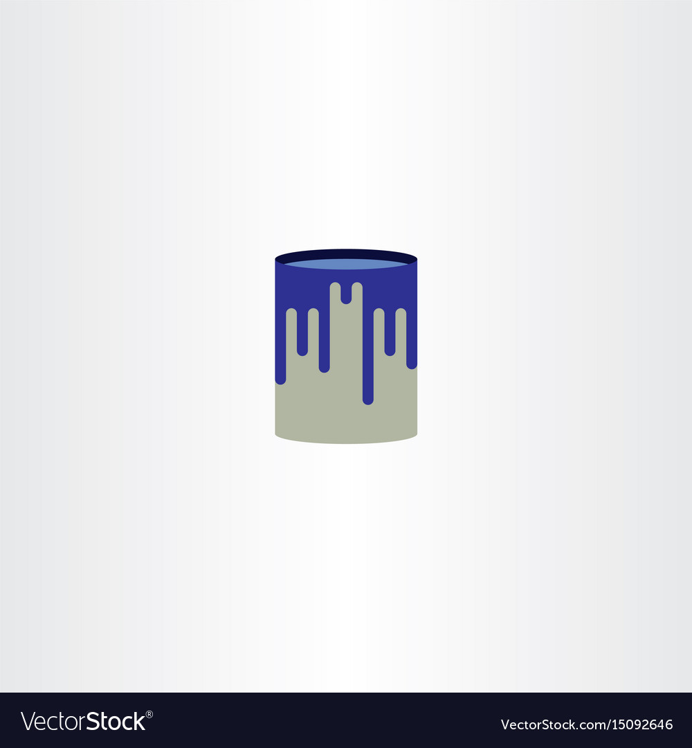 Paint can logo icon symbol vector image