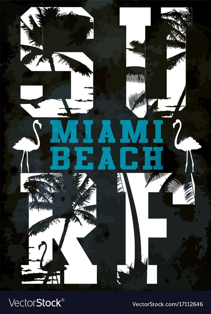 Surf typography t-shirt graphics