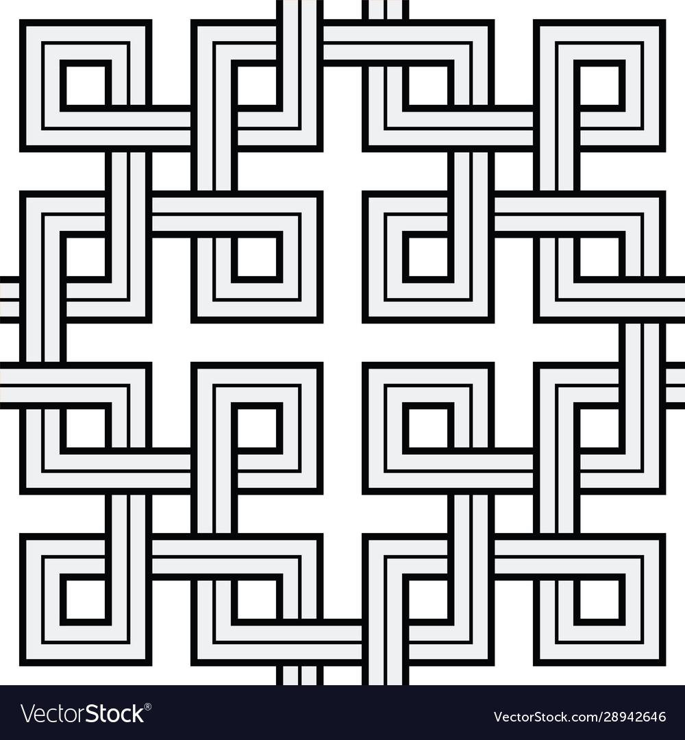 Viking seamless pattern - interweaved squares