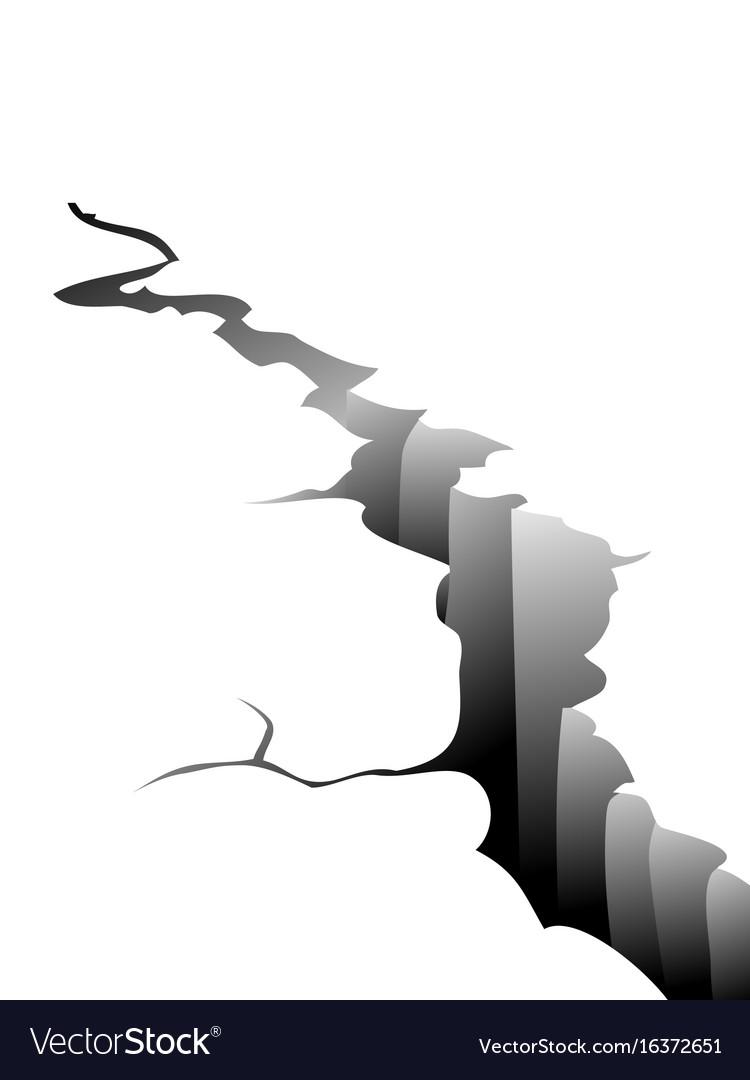 Earth crack