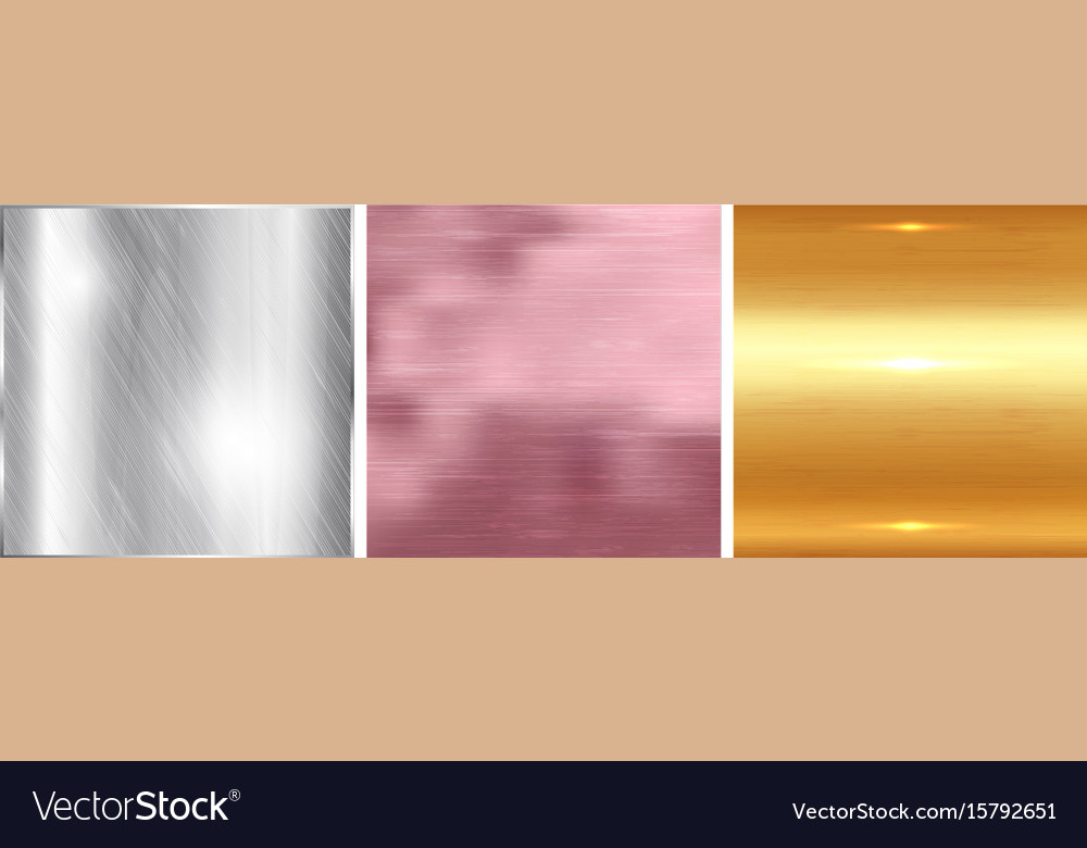 Gold silver and rose gold gradient square