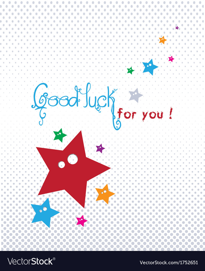Good luck greeting card royalty free vector image good luck greeting card vector image m4hsunfo