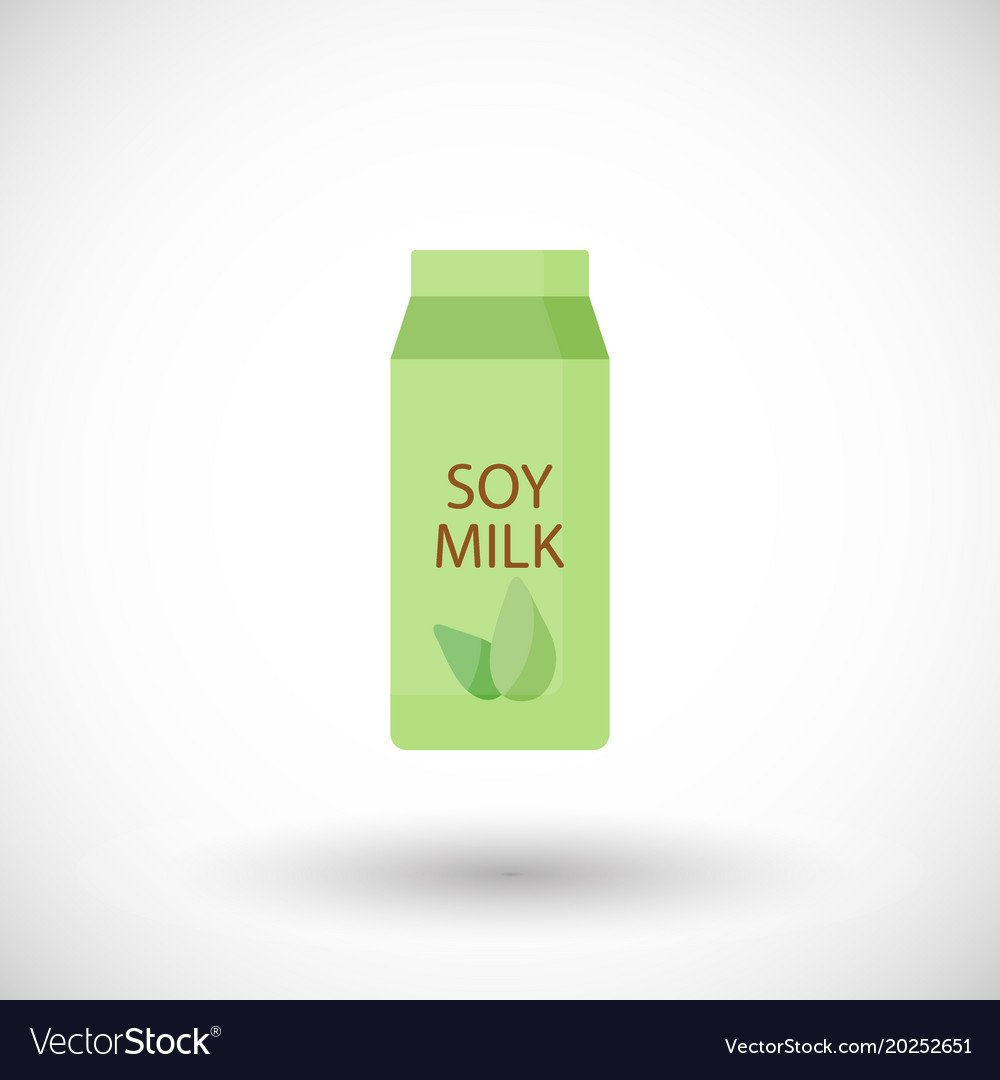Soy milk flat icon lactose free flat