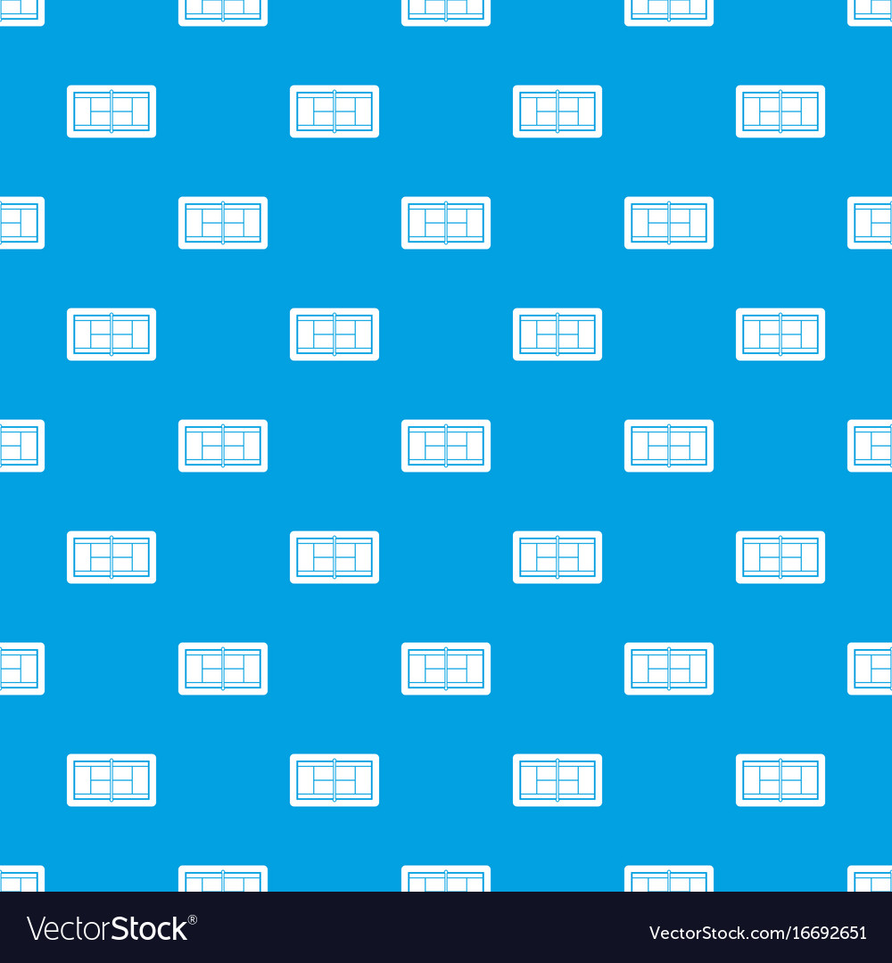 Tennis court pattern seamless blue