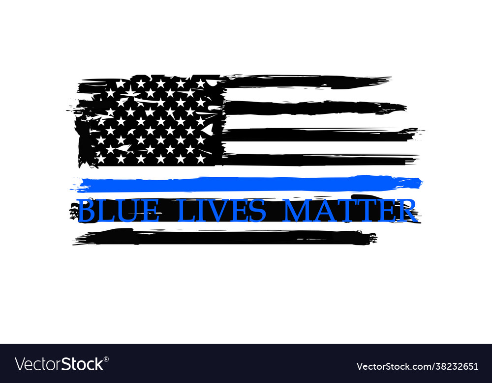 Thin blue line us flag police blue line
