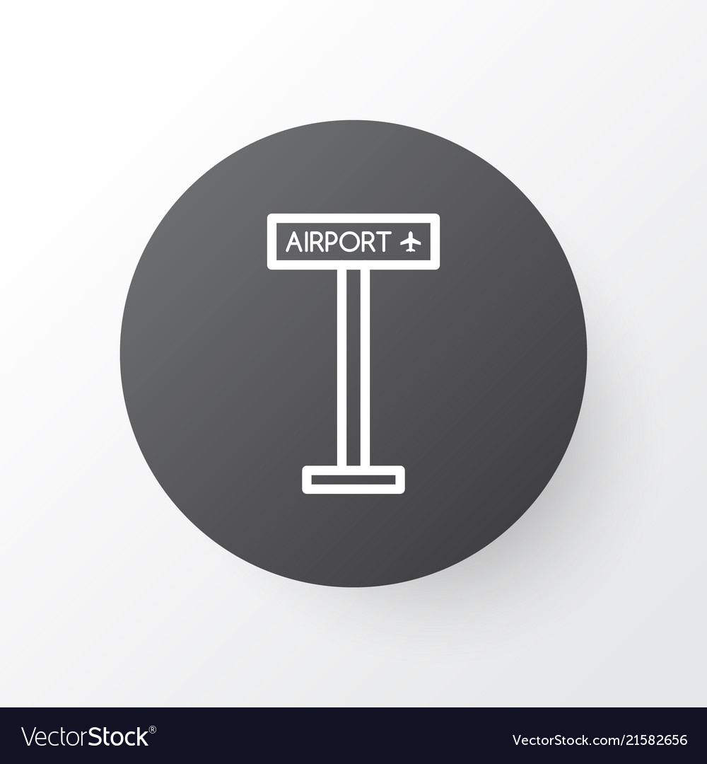 Airport sign icon symbol premium quality isolated
