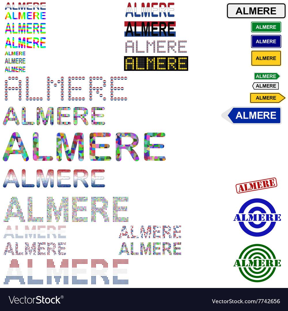 Almere text design set