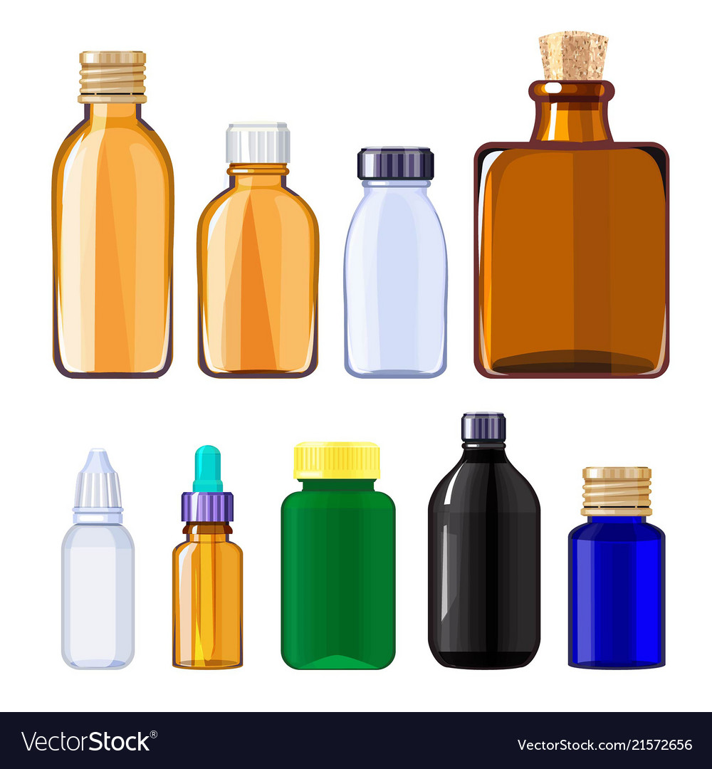 Bottles for drugs and pills medical bottles for