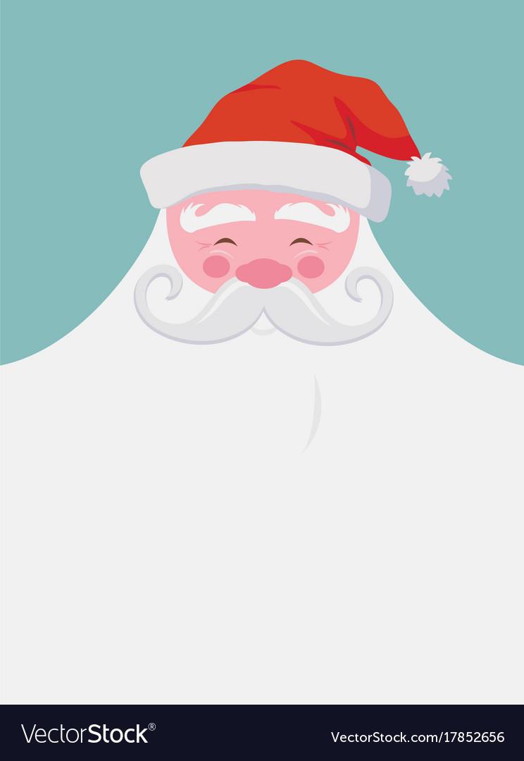Christmas greeting card happy santa with a beard