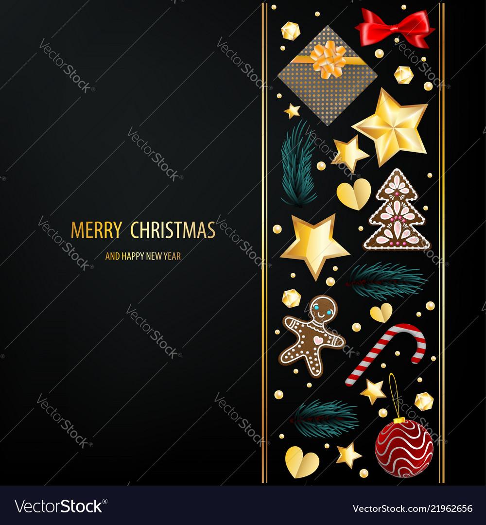 Christmas greeting dark postcard ornament