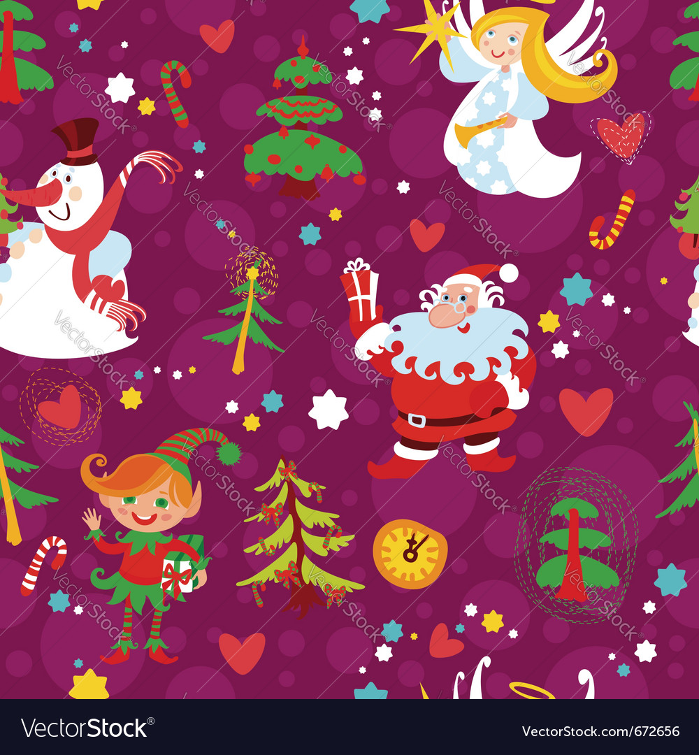 Christmas seamless wallpaper pattern