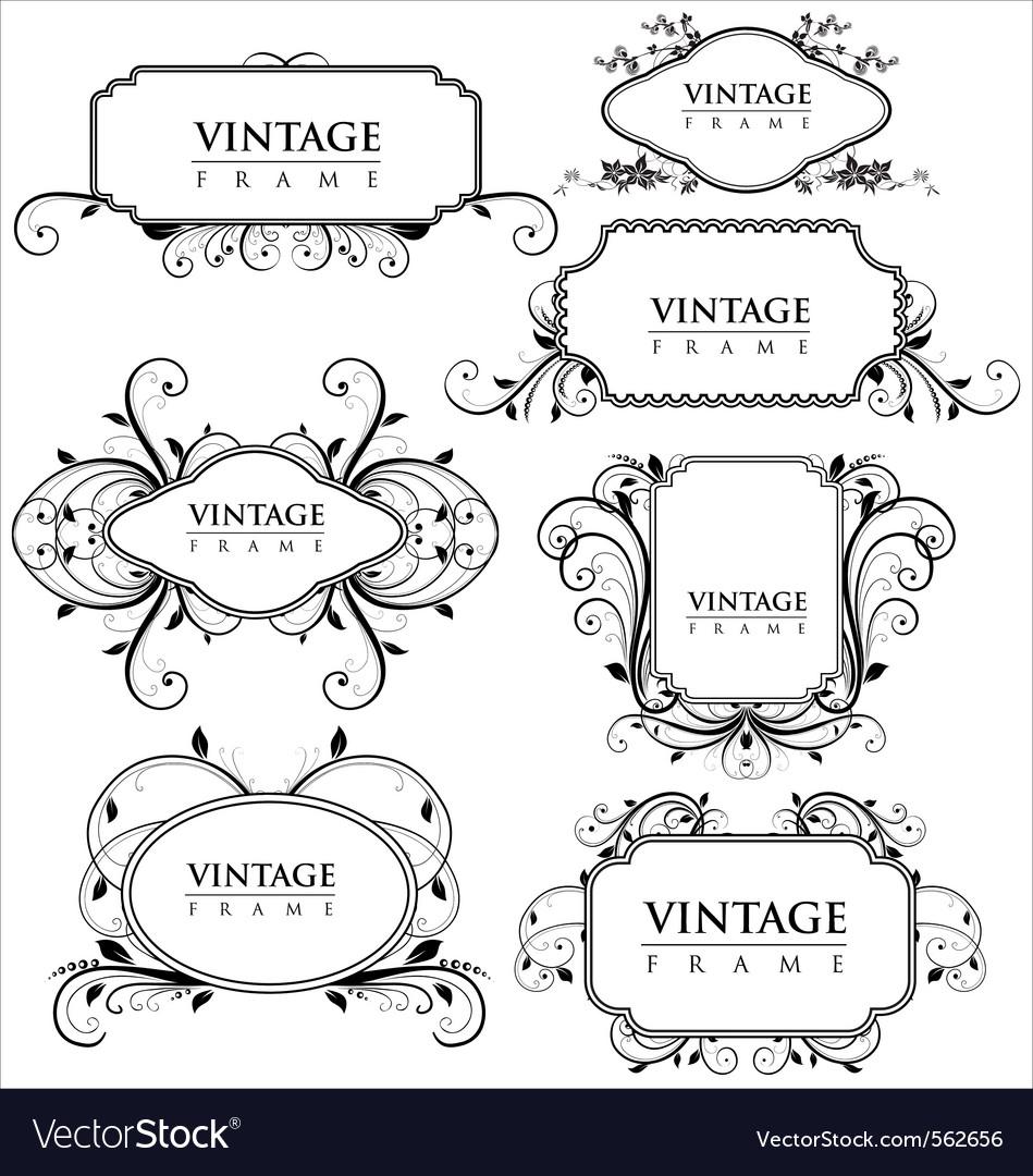Elegance vintage frames Royalty Free Vector Image