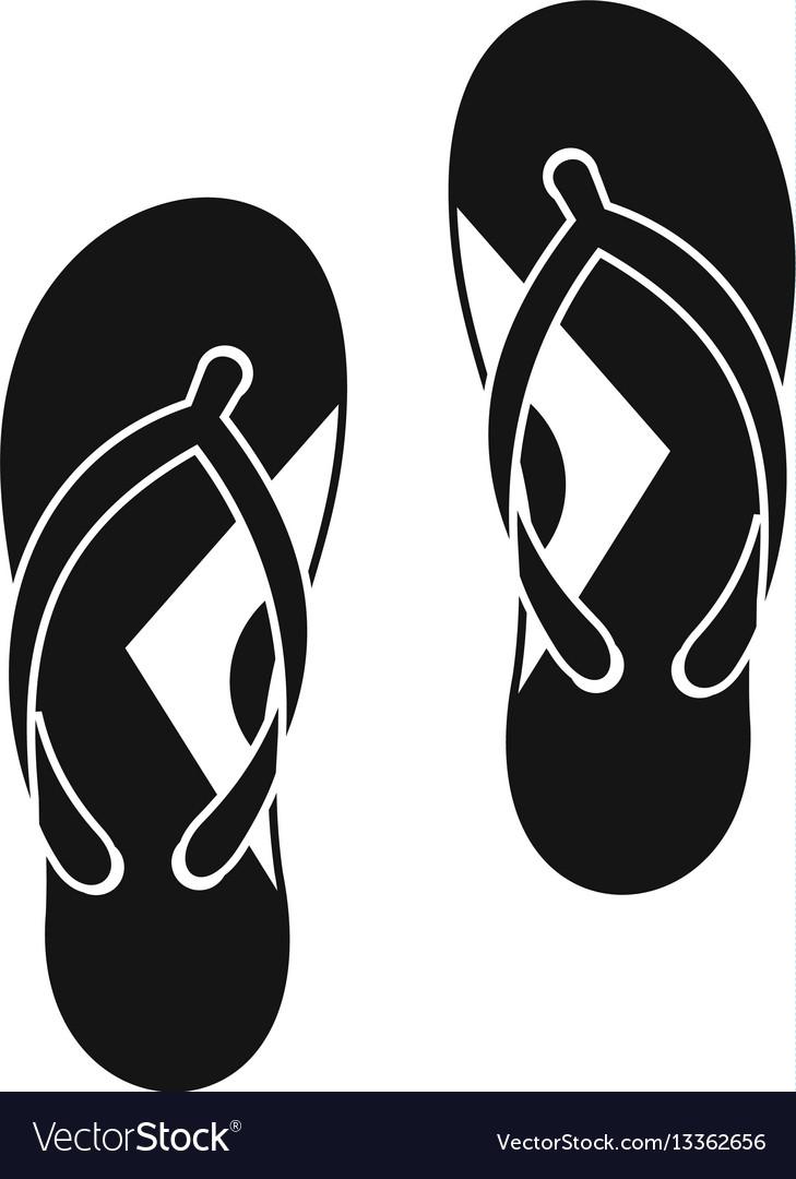 cf888faf3de9 Flip flop sandals icon simple style Royalty Free Vector
