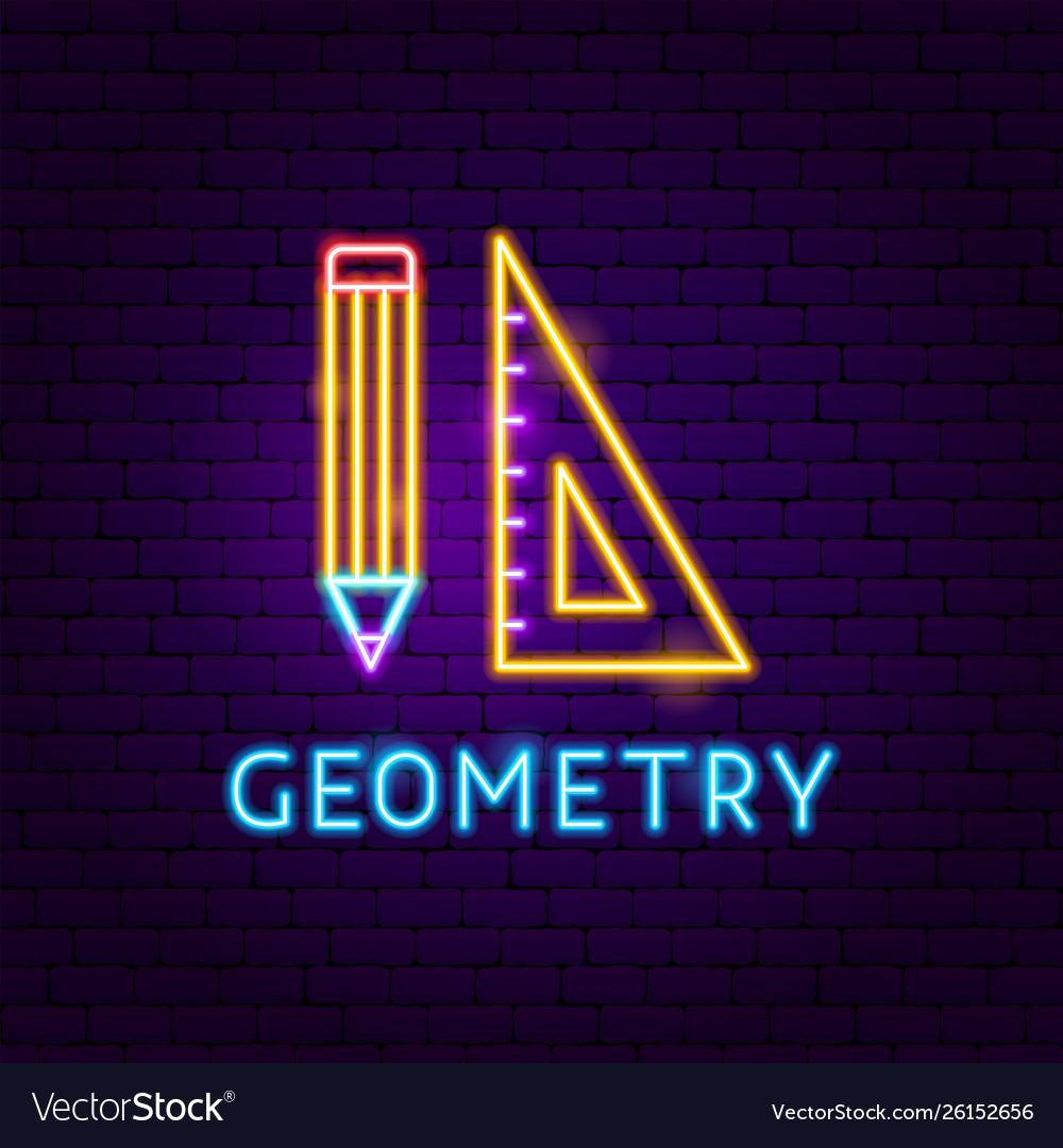 Geometry neon label